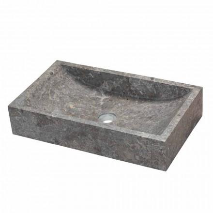 Håndvask rektangulære støtte grå marmor Satun