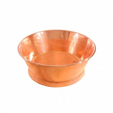 Bordtæppe rund kobber håndvask, håndlavet, Ania