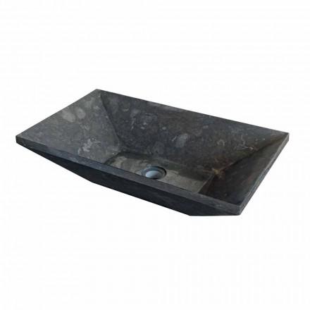 Håndvask trapezformet støtte i sort natursten Wok