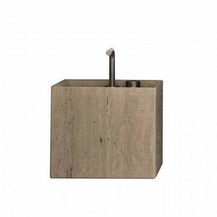 Moderne firkantet design bordplade til håndvask i sten - Farartlav2