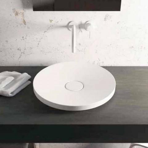 Rundt design fritstående badevaske lavet i Italien Cream