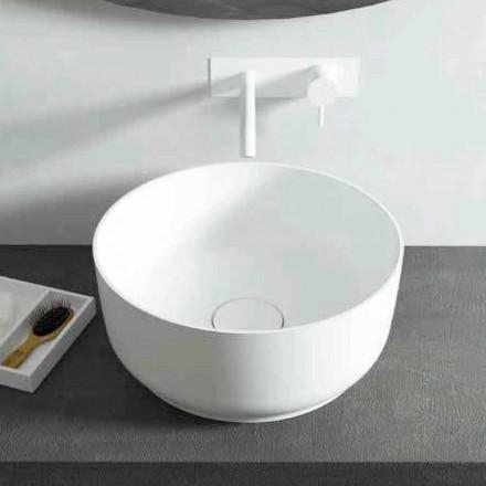 Moderne design rund bordplade håndvask, fremstillet i Italien Dalmine