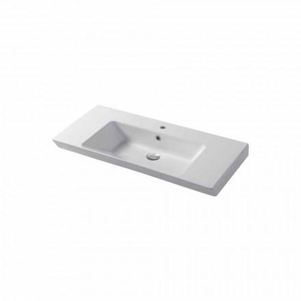 Bordplade eller vægindsats vask i hvid eller farvet keramisk Maida