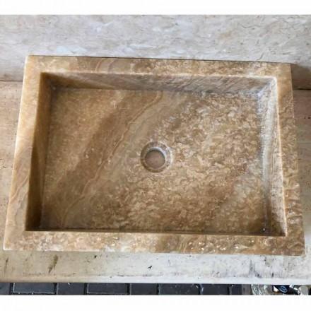 Tæppe design håndvask i onyx, natursten, Jef, unikt stykke