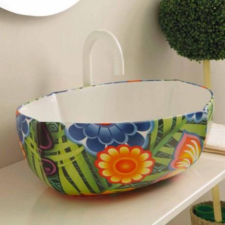 Design keramisk håndvaske, lavet i Italien Oscar