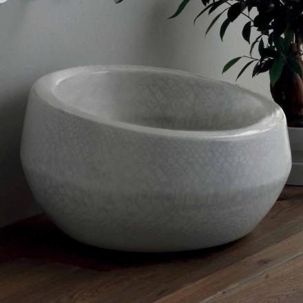 Bordtæksdesign håndvask i python keramik lavet i Italien Elisa