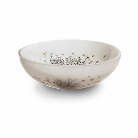 Design bordvask i harpiks med koralindsatser - Salvatore