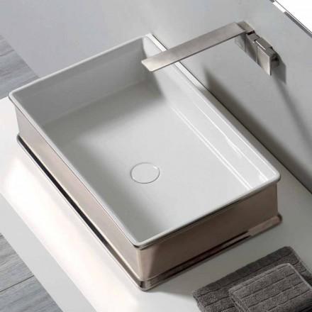 Moderne design bordplade keramisk håndvask lavet i Italien Debora