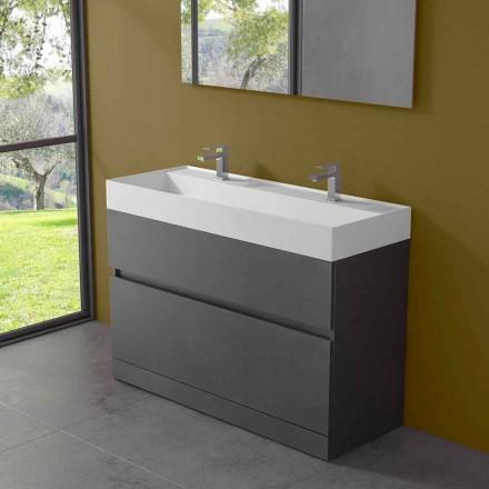 Dobbelt håndvask med gulvskab Moderne design i laminat - Pompeji