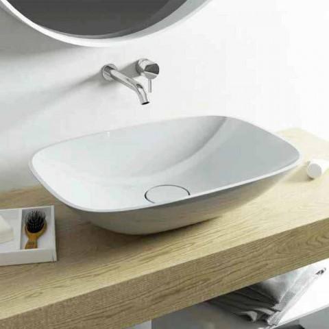 Fritstående håndvask ba moderne badeværelse lavet i Italien Taormina Medium