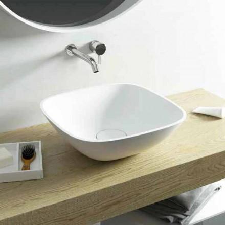 Firkantet bordvask lavet 100% i Taormina Mini i Italien