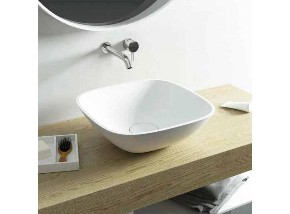Fritstående håndvaske ba firkantet lavet i Italien Taormina Mini
