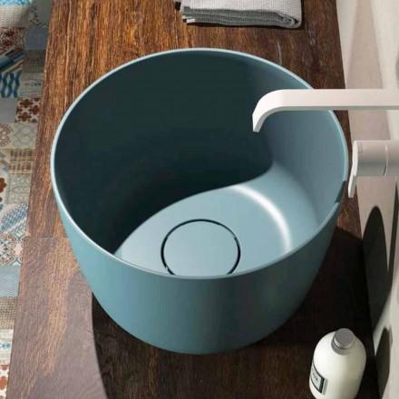 Bordplade cirkulær håndvask produceret 100% i Italien, Lallio