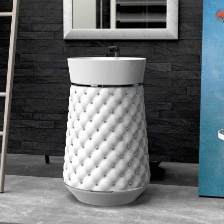 Moderne design fritstående håndvask i Solid Surface Elizabeth