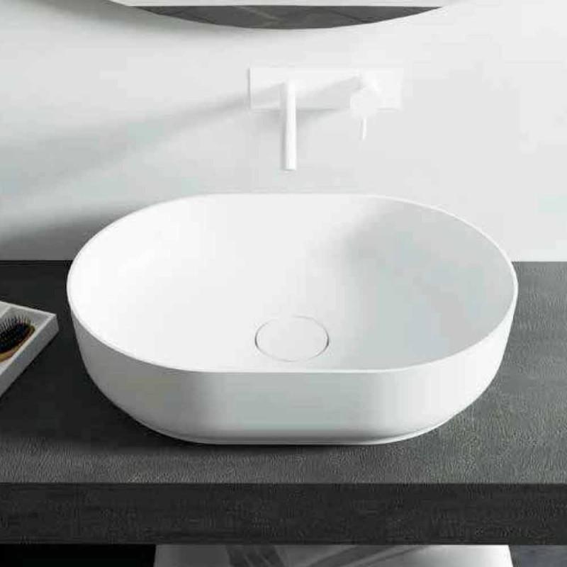Fritstående design håndvask til badeværelset lavet i Italien Dalmine Medium