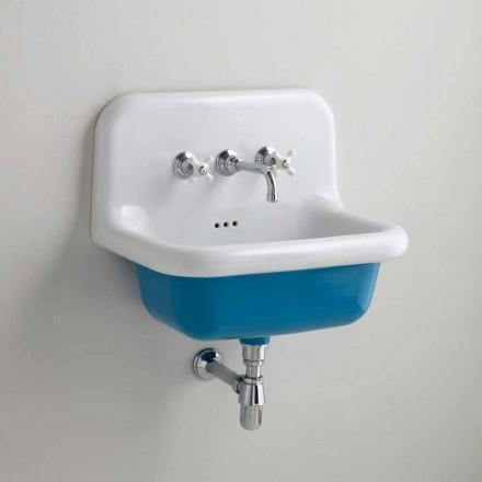 Håndvask rektangulære keramiske bund farvet Jordan