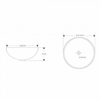 Benkepladehåndvask med moderne perlemorindsæt - Salvatore