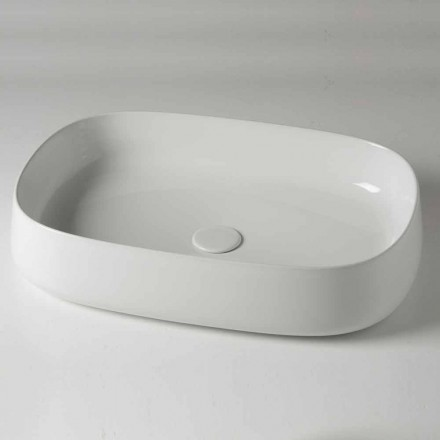 Ovalt bordplade L 60 cm i moderne keramik fremstillet i Italien - Cordino