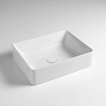 Rektangulær bordplade L 50 cm i keramik fremstillet i Italien - Rotolino