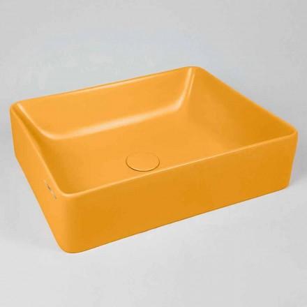 Rektangulær bordplade L 60 cm i keramik fremstillet i Italien - Rotolino