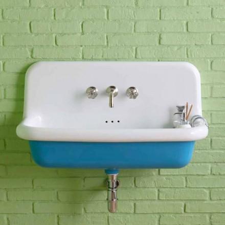 Rektangulær keramisk væg håndvask i den moderne Henry stil