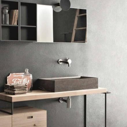 Rektangulær og moderne køkkenvask i designsten - Farartlav3