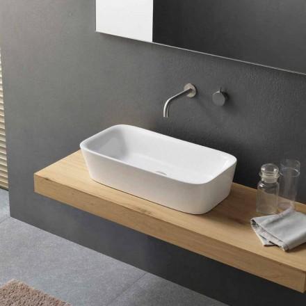Moderne rektangulær køkkenvask i keramisk design - Lipperialav1