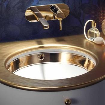 Barok undermonteret vask i ild ler og guld lavet i Italien, Egeerhavet