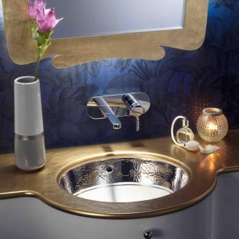 Baroque undercounter håndvask i ild ler og platin lavet i Italien, Egeerhavet
