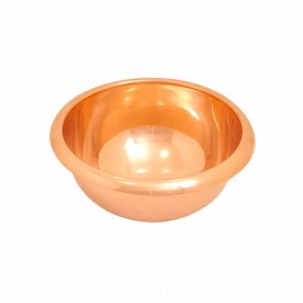 Rund håndvask kobber opbakning, håndlavet, Alba