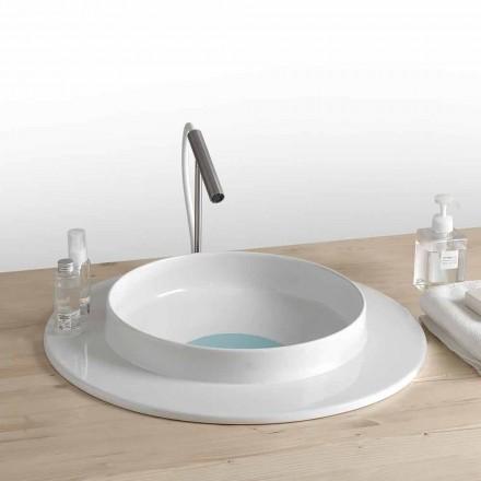 Rund håndvask badeværelse i moderne design keramik Kathy