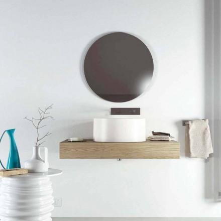 Design rund bordplade håndvask produceret 100% i Italien, Forino