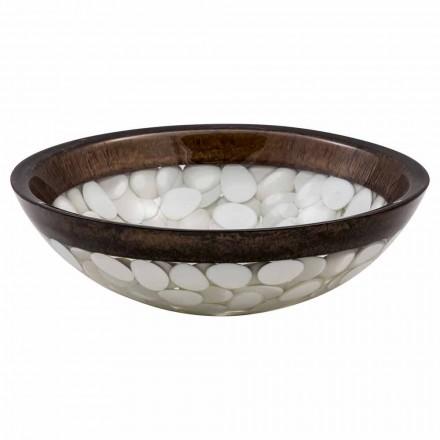 Cirkulært håndvask bestående af harpiks, Buguggiate