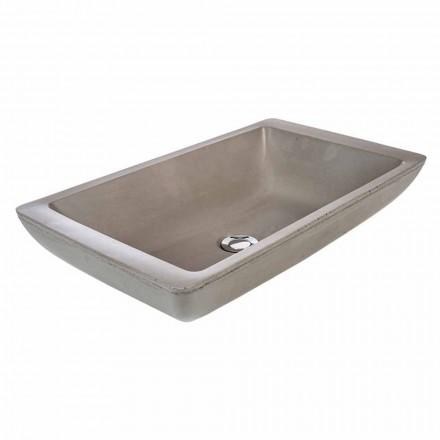 Tæppe design håndvask med håndlavet cement karbad