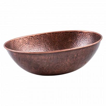 Moderne ovale bordpladevask i kobber, Pagliara