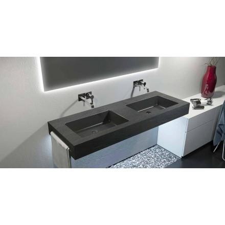 Moderne ophængt dobbelt vask i Texolid fremstillet i Italien, Rufina