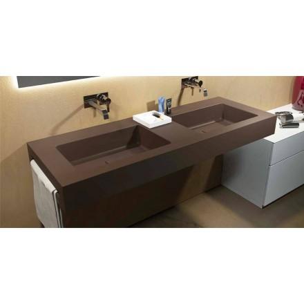 Moderne dobbelt ophængt håndvask i Luxolid fremstillet i Italien, Ruffano