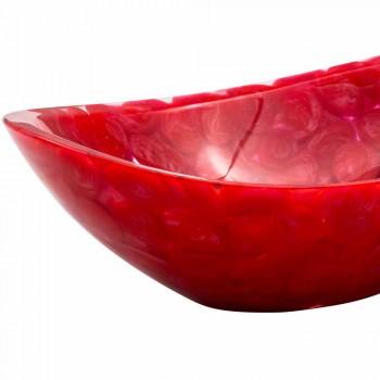 Moderne håndlavet bordplade i rød harpiks, Buscate