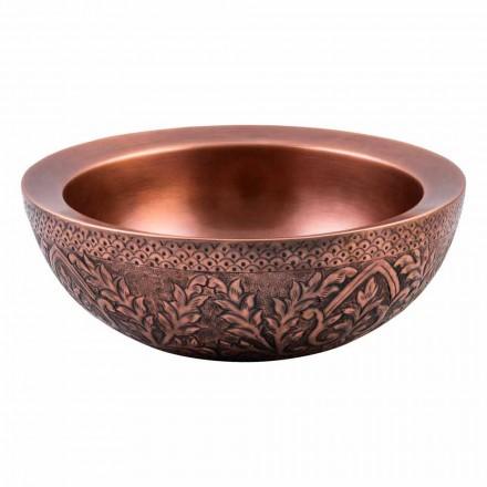 Dobbeltvæg rund bordpladevask i kobber, Muros