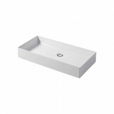 Design bordplade i hvid eller farvet keramisk Leivi