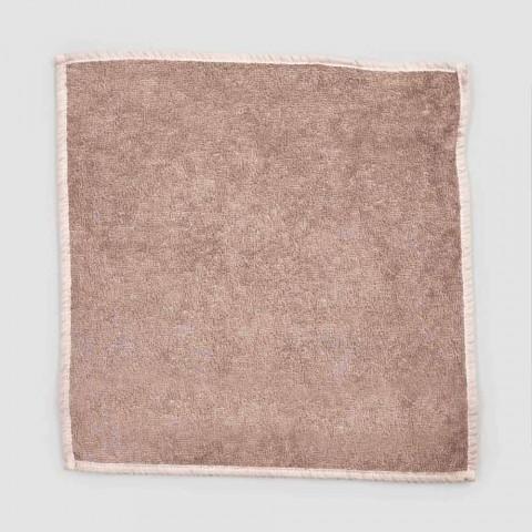 Badehåndklæde til gæster i terry med blandet linned kant 6 stykker - kam