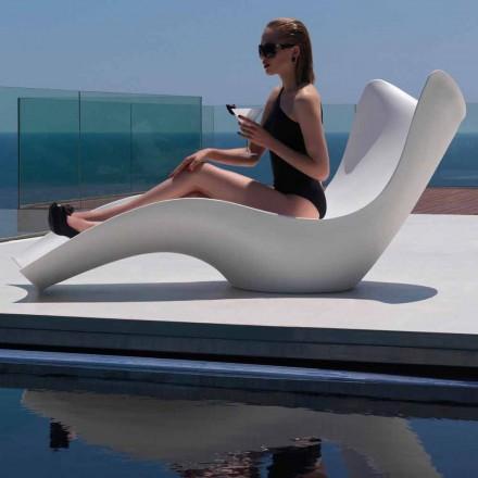 Moderne udendørs liggestol, i polyethylen, Surf by Vondom, 2 stykker