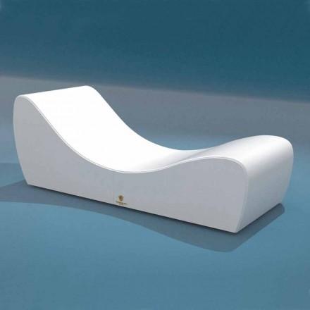 Cot slappe Wave Trona hvid nautiske imiteret læder lavet i Italien