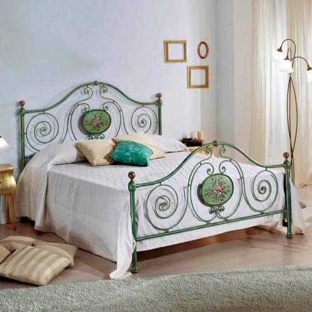 Klassisk dobbeltseng med smedejern dekoration Rachael