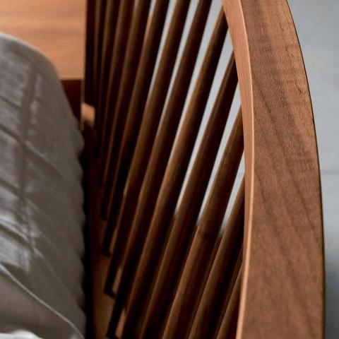 Design dobbeltseng 160x200cm med solid Alain valnød base