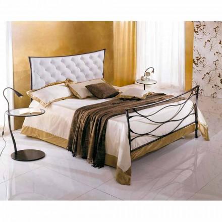 En seng og en halv Square Smedejern Hydra Capitonnè