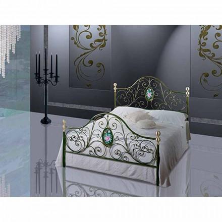 En seng og en halv Square Smedejern Turquoise