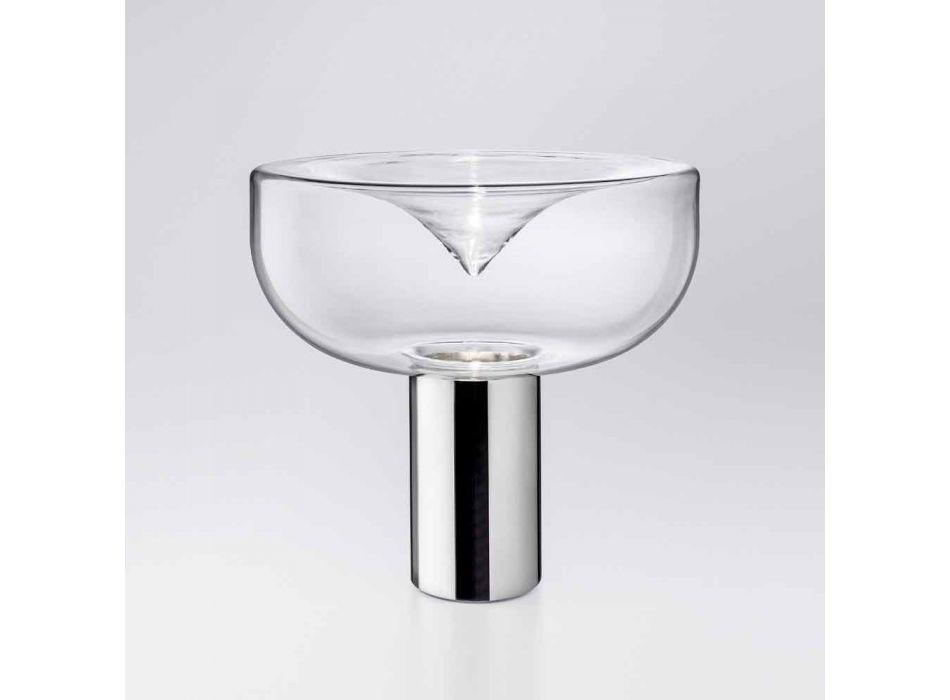 Aella Leucos Moderne bordlampe i krystalglas LED RGB