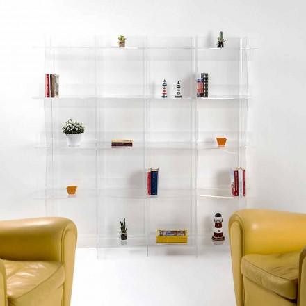 fritstående reol / væg moderne design Pam gennemsigtig