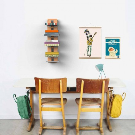 Bibliotek moderne design væg tante Hortense
